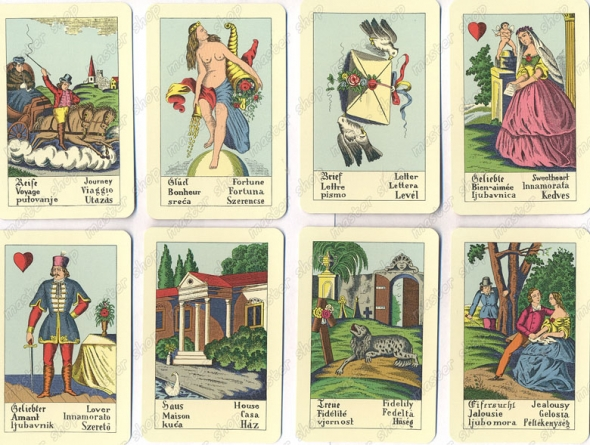 biedermeier 1904 divination card deck meanings how to read