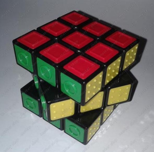 original hungarian 3x3x3 rubik cube for visually impaired. Black Bedroom Furniture Sets. Home Design Ideas